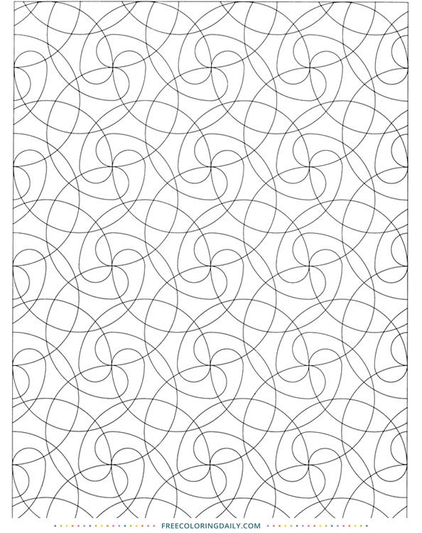 Free Patterned Coloring Sheet