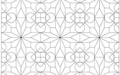 Free Modern Geometric Pattern Coloring