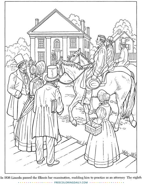 Free Abraham Lincoln Coloring