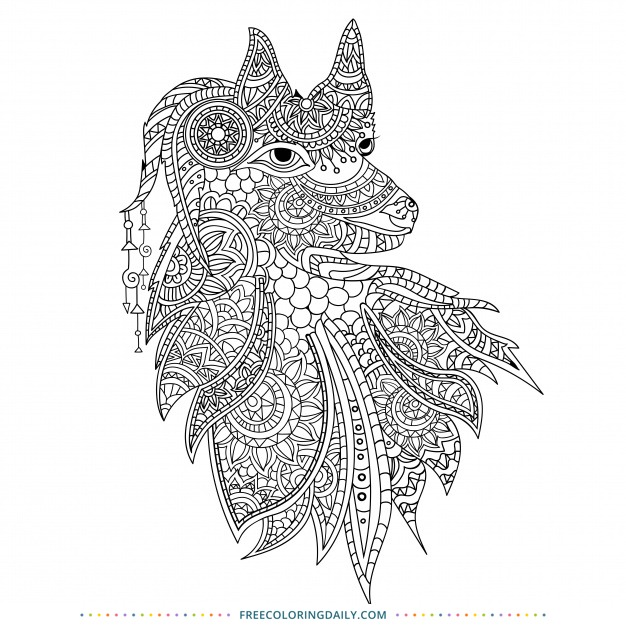 Free Patterned Animal Coloring