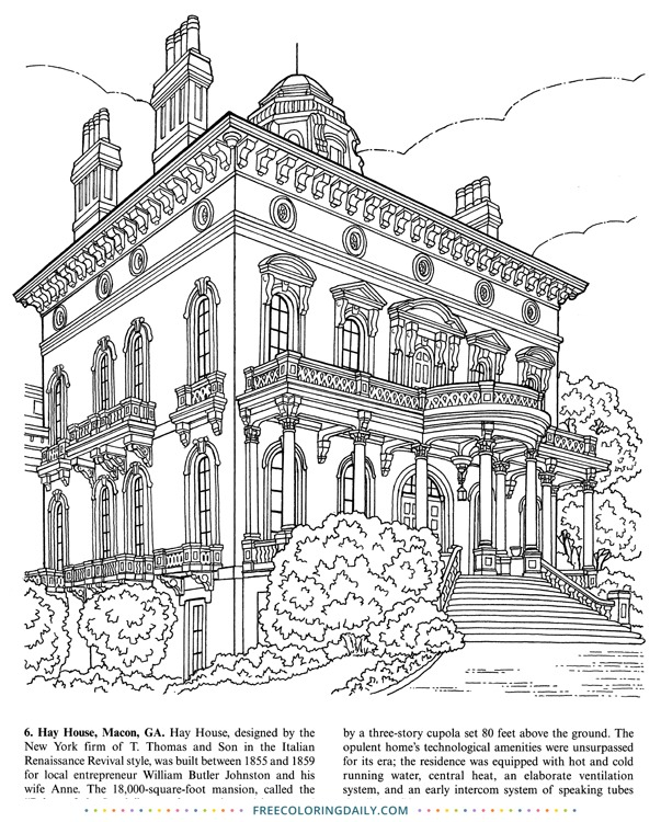 Free Coloring Page of the Hay House
