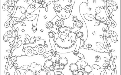 Free Whimsical Coloring Page