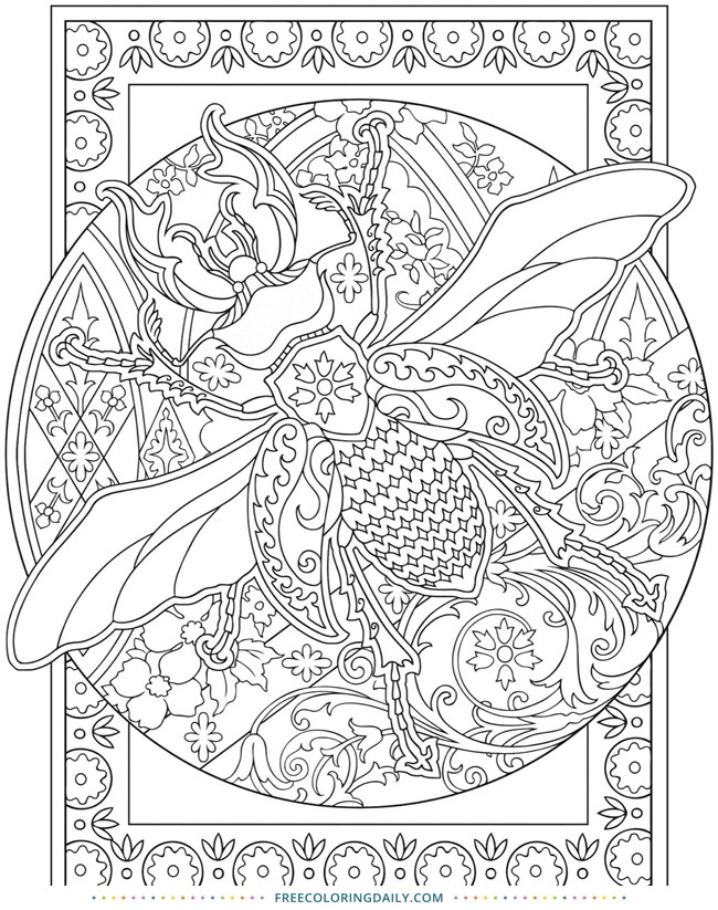 Free Insect Coloring Page