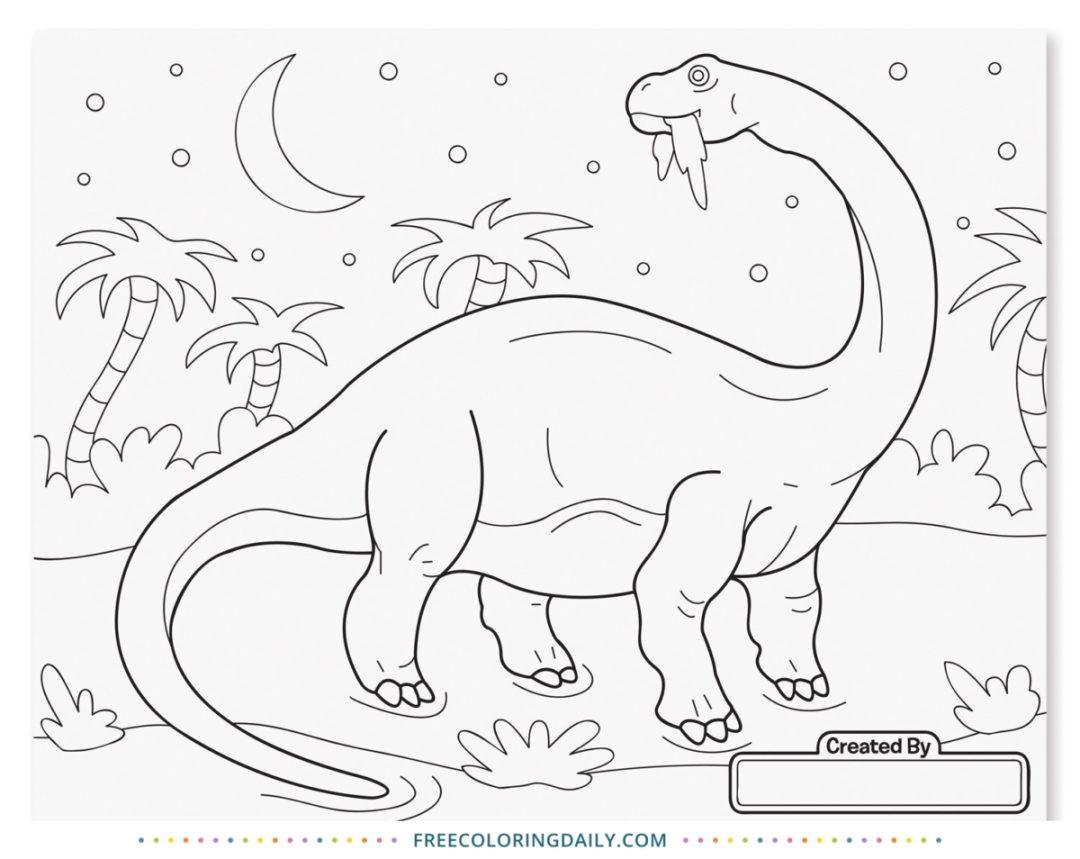 Free Dinosaur Coloring