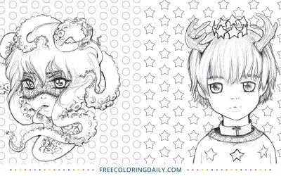 Free Manga Coloring Sheet