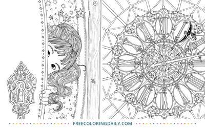 Free Magical Clock Coloring