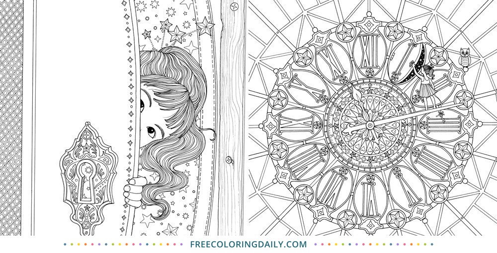 Free Magical Clock Coloring