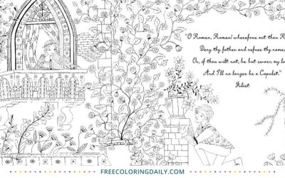 Free Storybook Coloring Page