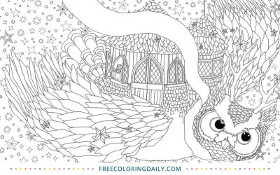 Free Owl Coloring Page