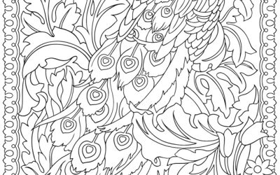 Free Stunning Peacock Coloring