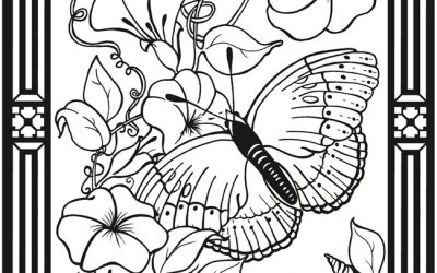 Free Butterfly and Flowers Coloring