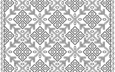 Free Printable Quilt Pattern Coloring Page