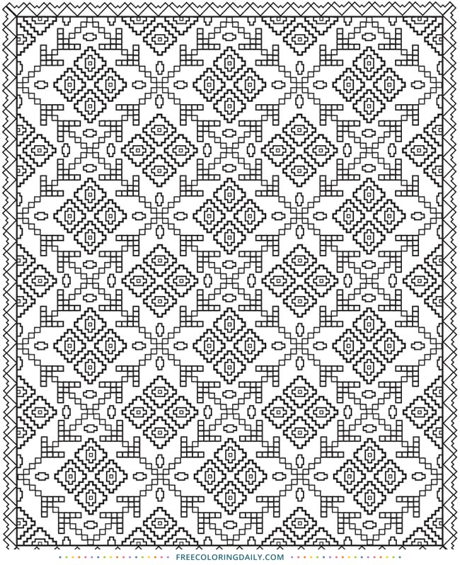 photo relating to Printable Quilt Pattern identify No cost Printable Quilt Habit Coloring Site - No cost Coloring Every day