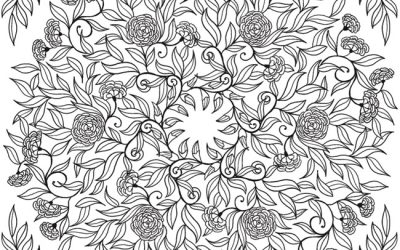 Free Gorgeous Floral Vine Coloring
