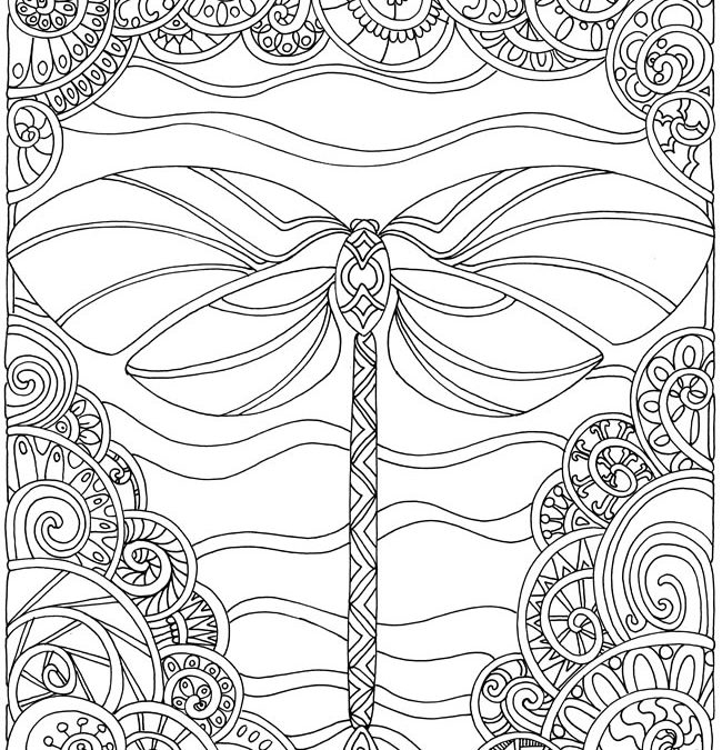 Dragonfly Coloring Page - Coloring Home | 675x650