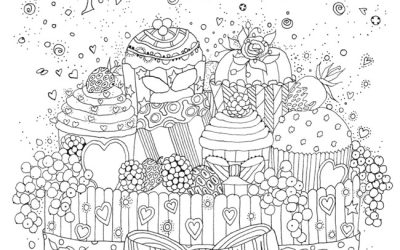 Free Cute Cake Coloring