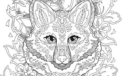 Free Patterned Fox Coloring