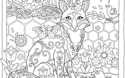Free Fox & Nature Coloring Page