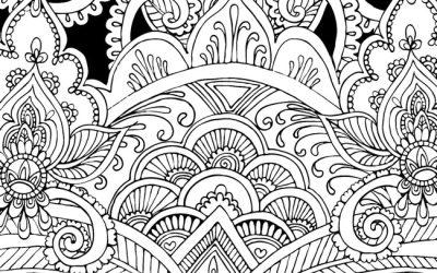 Free Pretty Pattern Coloring Page