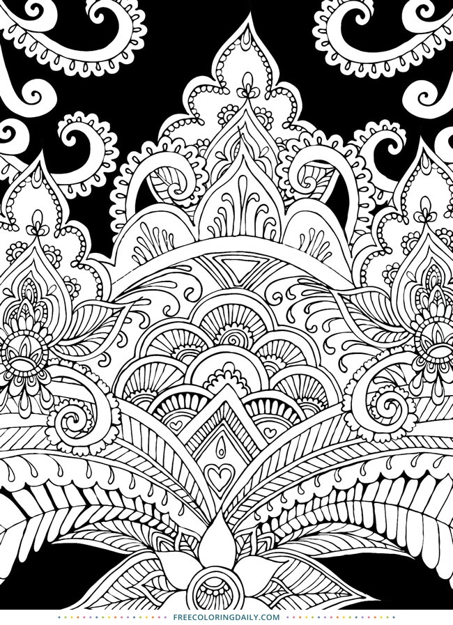 Free Pretty Pattern Coloring Page