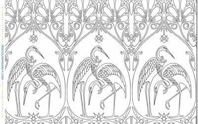 Free Heron Pattern Coloring