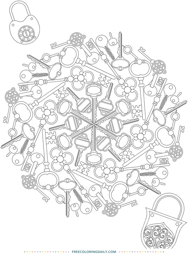Free Lock & Key Coloring