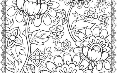 Free Folk Art Floral Coloring