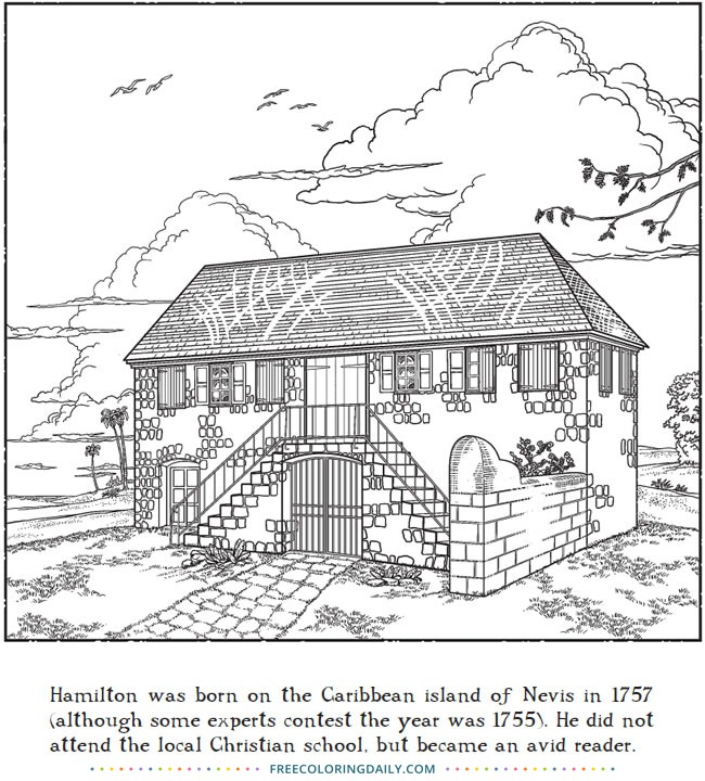 Free Historic House Coloring