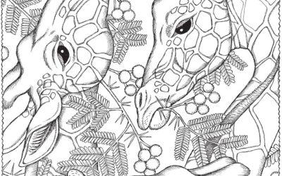 Free Giraffe Pattern Coloring
