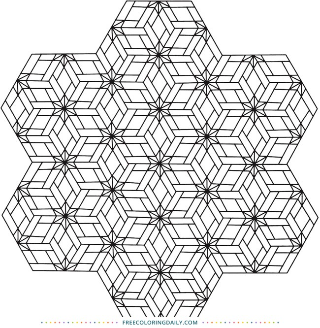 Free Geometric Coloring Page