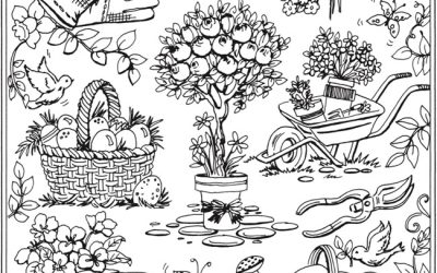 Adorable Free Gardening Coloring Page