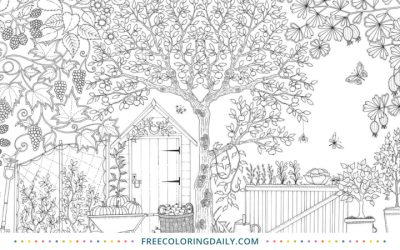 Free Backyard Garden Coloring