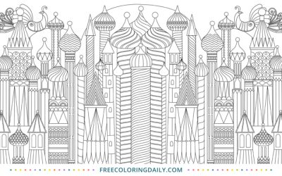 Free Cityscape Coloring Sheet
