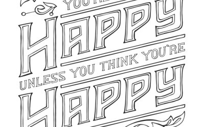 Free Happy Quote Coloring Page