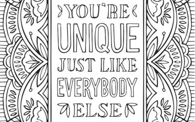 "Free ""You're Unique"" Coloring Page"