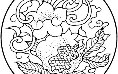 Free Antique Design Coloring Page