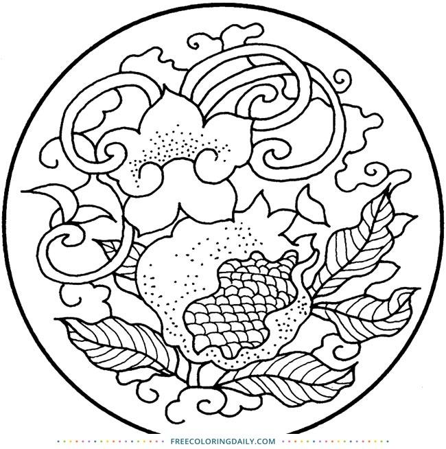 Free Antique Design Coloring Page