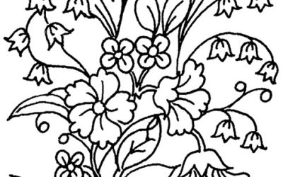 Free Pretty Floral Coloring