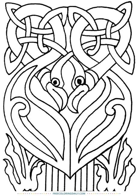 Free Celtic Coloring Design