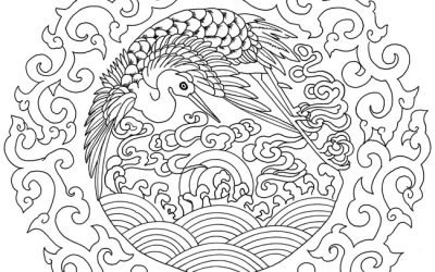 Free Asian Art Coloring Page