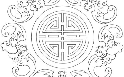 Free Asian Pattern Coloring