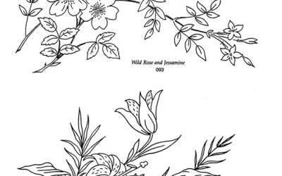 Free Floral Branch Coloring