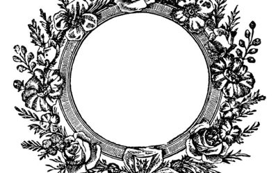 Free Antique Wreath Coloring
