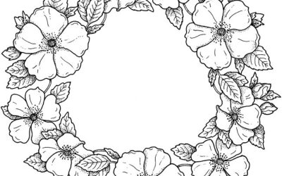 Free Floral Wreath Coloring
