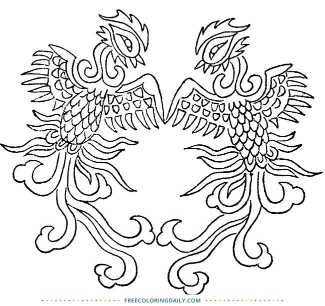 Free Bird Design Coloring