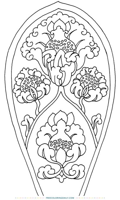 Free Vintage Decor Coloring