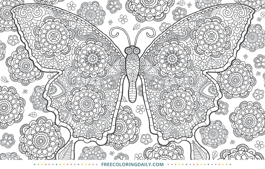 Free Butterfly Pattern Coloring