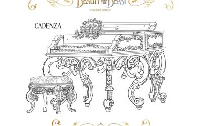 Beauty & the Beast Piano Coloring