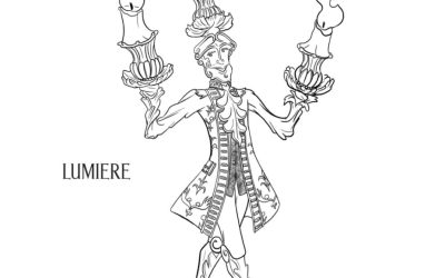 Free Lumiere Coloring Sheet