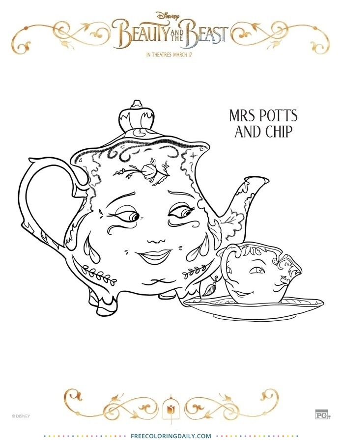 Mrs. Pott's Free Coloring Page